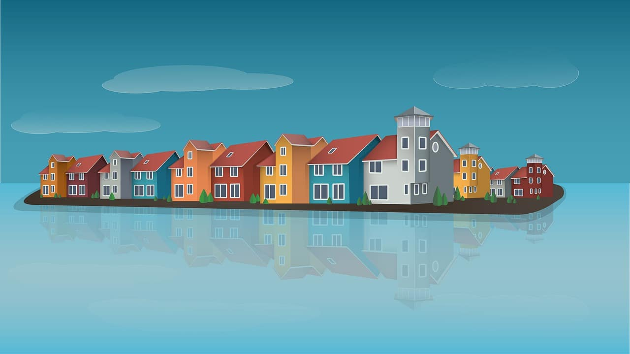 Houses River Buildings Neighborhood - ArtDream / Pixabay